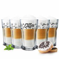6 Kaffeegläser 300ml Latte Macchiato Gläser Teeggläser Cocktailgläser Caipirinha