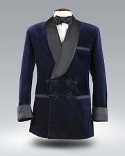 Men Navy Blue Jacket Blazer Wedding Party wear Smoking Tuxedo Shawl Lapel UK