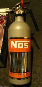 NEW Metallic Silver Fire Extinguisher NOS NITROUS BOTTLE DECAL NX ZEX Rat Rod