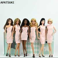 """Fashion Multi-style Pink Dress For 1/6 Doll Evening Dress Clothes For 11.5"""" Doll"""