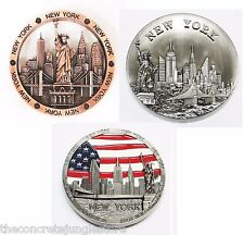 3 X New York NYC Souvenir Metal Magnet, Statue of Liberty Magnet, Rm01s,11c,02s
