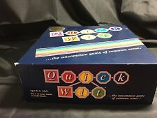 Quick Wit Boardgame Night And 87 Peter Mark Original Box Ages 12 To Adult 042516