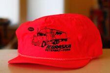 Rare Vtg Peterbilt Ford Nebraska Neon Pink Rope Bill Mesh Snapback Hat Cap