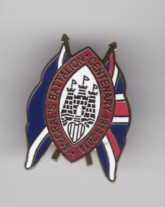 """Hearts """" McCrae's Battalion Centenary """"-  lapel badge butterfly fitting"""