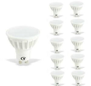 CY Lot de 10 ampoules LED GU10 240 V 6 W – 6000 K Blanc froid – 600 lm équivalen