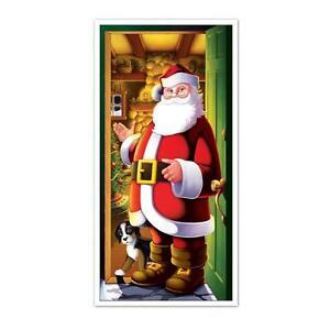 """SANTA CLAUS Door Cover 30"""" x 5' Backdrop Decoration"""