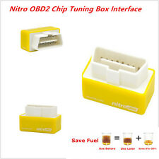 New Nitro OBD2 Performance Tuning Chip Box For Gas/Petrol Vehicles Plug & Drive