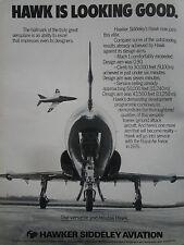 1/1976 PUB HAWKER SIDDELEY AVIATION HAWK ROYAL AIR FORCE TRAINER ORIGINAL AD