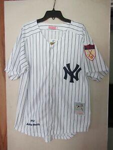 Mickey Mantel 1951 New York Yankees Mitchell & Ness White Jersey Size Medium
