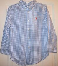 RALPH LAUREN Polo Button Up Shirt BLUE GINGHAM size 4T NWT