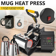 Combo 3in1 Mug Heat Press Transfer Sublimation Machine Latte 11 17oz Coffee Cup