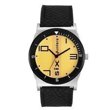 Austere Gatsby Analog Yellow Dial Men's Watch - MGT-II-1102