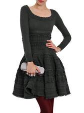 ALAIA Anthracite Gray Full Flare Crinoline Lace Crochet Passiflore Skirt S
