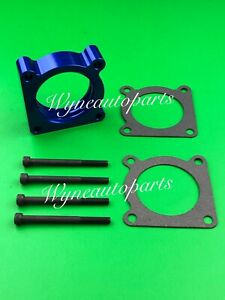 BLUE Throttle Body Spacer for 07-12 Nissan ALTIMA ROGUE SENTRA SE-R Spec V 2.5L