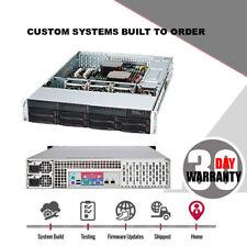 UXS Server 2U Direct Attached Storage 8 Bay Dedicated FREENAS HOST UNRAID ZFS