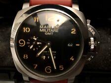 Nuevo modificado Marina Militare 44mm GMT Reloj Automático PAM 00233 homenaje
