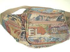 Vtg Pioneer Express Tapestry Fanny Pack Adjustable waist travel Print