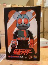 Medicom 400% + 100% Bearbrick ~ Kamen Rider No.2 Be@rbrick NEW KAWS