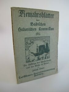 1911 Neujahrsblätter der Badischen Historischen Kommission Baden K3696