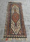 2'8 x 7'9 Antique old caucasian erivan kilim rug of small size with boteh design