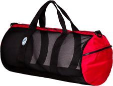 """StahlSac Mesh Duffle Bag 26"""" Red"""