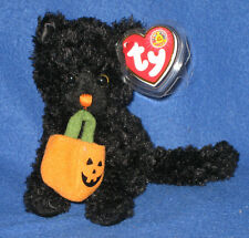 TY JINXED the HALLOWEEN CAT BEANIE BABY - MINT with MINT TAGS
