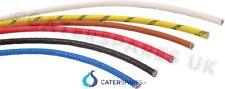 Alambre de fibra de vidrio resistente al calor 1.5mm 16AMP Azul Cable Alta Temperatura se vende por metro