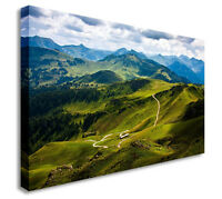Picture Hiking Road Mountains Landscape Canvas Wall Art Picture Print
