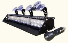 DASH FLASH® 4- HEAD DASH LED STROBE LIGHT FIREFIGHTER  POLICE SNOW PLOW TOW