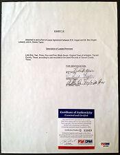 BEN HOGAN Signed Lease w/ Full Signature Golf Legend Auto PSA/DNA COA Autograph