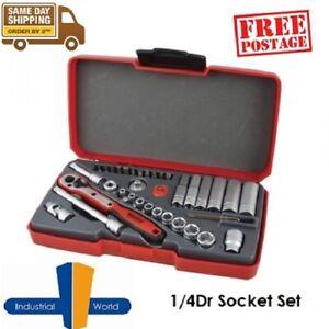 Teng Tools 36 Pce 1/4 Inch Drive Socket & Bit Set - T1436