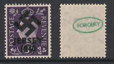 GB Jersey (271) 1940 Swastika Overprint forgey om genuine 3d stamp unmounted