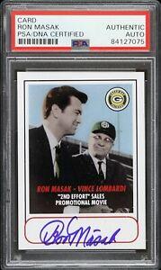 1968 Ron Masak Vince Lombardi Green Bay Packers Signed Card (PSA) 2nd Effort