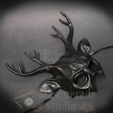 Deer Haunted  Animal Spirit Wall Decoration Halloween Masquerade Mask [Black]