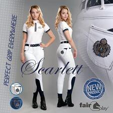 Damen Reithose Scarlett weiss Fullgrip Silikon Vollbesatz Turnier Fairplay Gr 34