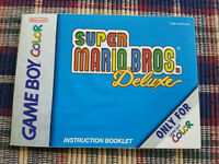 Super Mario Bros Deluxe - Authentic - Nintendo Game Boy Color - Manual Only!
