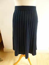 REDUCED BNWT  Pure Collection 30% cashmere 70% lambswool knitted navy skirt  S