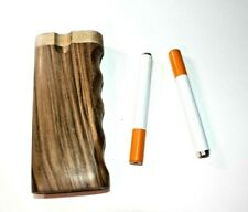 "Large 4 Inch Classic Walnut Wood Dugout with 3 "" Bat Pipe."