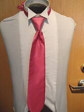 "Mens Cardi Collection Fuchsia ""Herringbone"" Pattern Long Neck Tie"