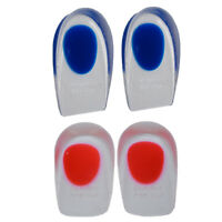 2Pcs Silicone Gel Shoes Pads Pillows Heel Cups Orthopedic Insoles Sole Fascia