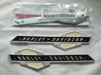 Harley Davidson Tank Embleme Tankembleme Tankschilder mit Adapter Kit 61777-63T