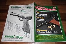 SCHWEIZER WAFFEN MAGAZIN  6/1986 -- COMBATFLINTE USAS 12/Voere AM 180/Jan Boger