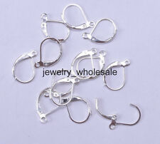 50pcs Silver plated Copper France Earring Hooks Findings 15MM BH216
