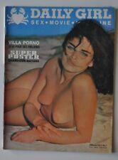rare * DAILY GIRL ( comme playboy lui ) VOL 2 N°7 1970 érotisme charme cinema X