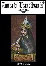 Conte Dracula Vlad Tepes portrait Transilvania count vampire bloodsucking paint