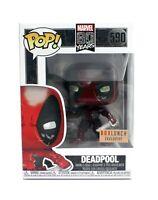 Funko Pop Deadpool Metallic BoxLunch Exclusive 590 Marvel 80 Years