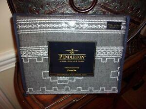 NIP Pendleton Granite Canyon Southwestern Embroidery Full Queen Duvet Cover Set