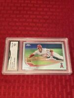 2013 TOPPS Chrome Mike Trout Sliding PSA GMA 10 Gem Mint #1 Angels Rookie Cup