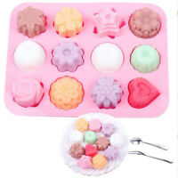 US 12 Hole Semi-Sphere Round Silicone Mold Hot Chocolate Bombs Cake Baking Mould