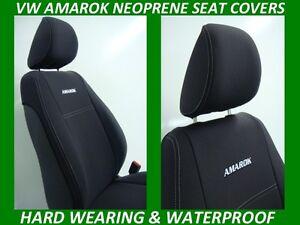 FITS VOLKSWAGEN AMAROK FRONT& REAR NEOPRENE SEAT COVERS ( WETSUIT FABRIC )